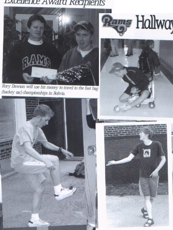 I never did make it to the footbag championships in Bolivia that year.